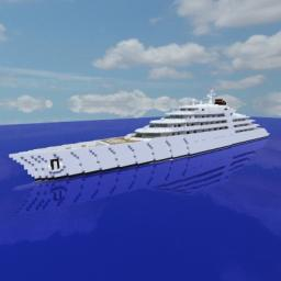 AZZAM Biggest Superyacht in the World 1:1 Scale Minecraft Map & Project