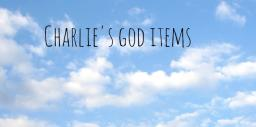 Charlie's God Items Minecraft Project