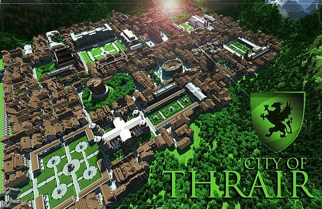 City of thrair medieval fantasy city with 500 buildings minecraft
