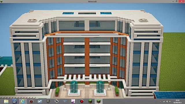 Modern Apartment BuildingModern Apartment Building Minecraft Project