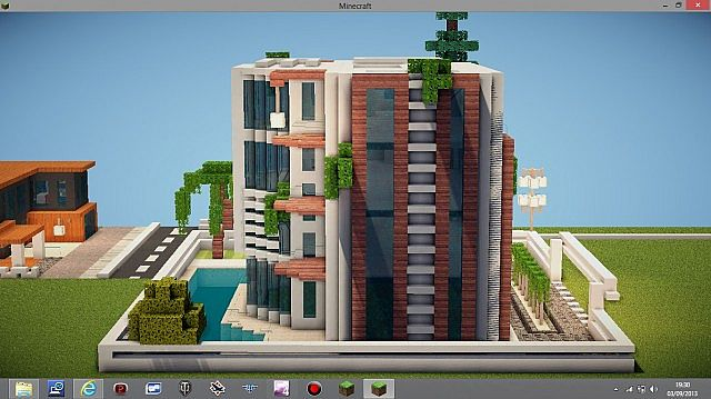 Modern hotel minecraft project for Modern small hotel design