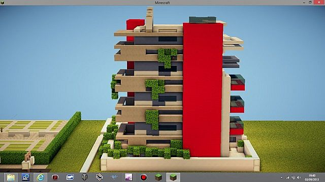 Modern Apartment Building modern apartment building minecraft project