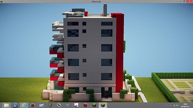 modern apartment building minecraft project