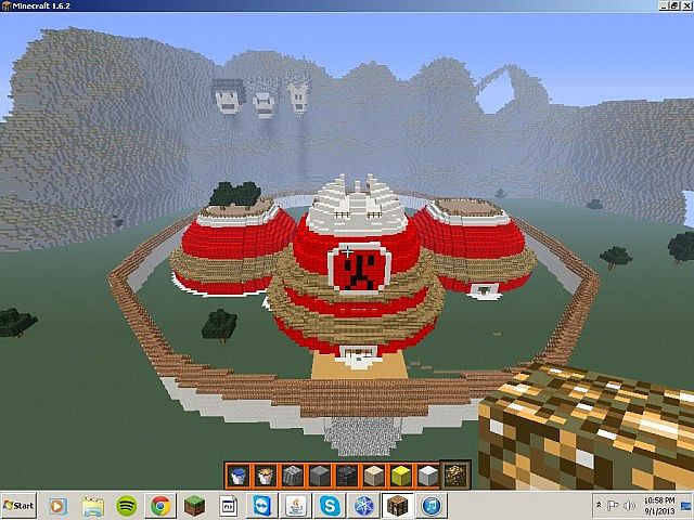 A Naruto world  Minecraft Project