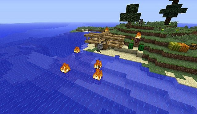Minecraft survival island plane crash download
