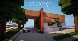 Opal Springs | Modern beach home Minecraft Map & Project