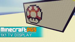 1x1 Pixel TV Display - Minecraft Snapshot 1.7 Minecraft Map & Project