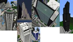 MammerJammer Modern Skyscraper Pack!!! Currently 10 Skyscrapers included Minecraft Map & Project