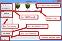 [Tool] Modmemc! multiple installation of minecraft and install automatic mods Client and Server (Windows xp/vista/7/8 Minecraft Mod