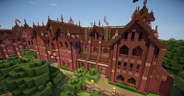 Victorian Foyer University : Abbington college victorian style university minecraft
