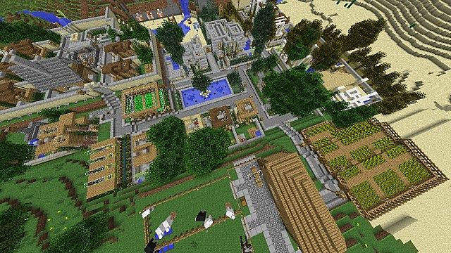 Small Modern Village Minecraft Project