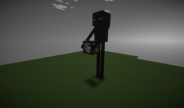 how to make a enderman statue in minecraft