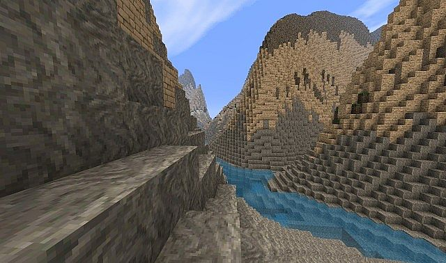 Grand Canyon Heightmap landscape Minecraft Project