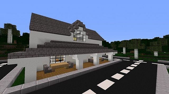 House With Pillars Minecraft Project