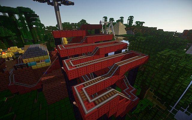 Happel land realistic minecraft theme park update 1