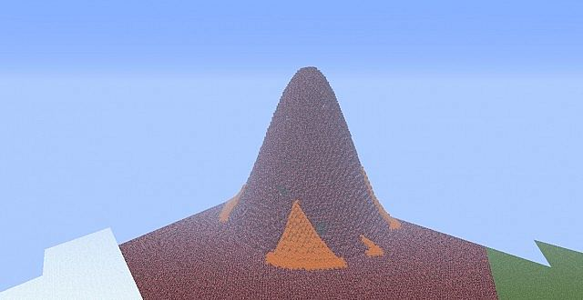 dragon mountains  fire  ice  earth and sky  minecraft project