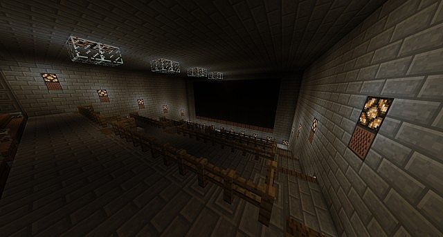 Underground theater with working lights