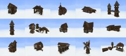 Viridion's Medieval Building Pack + Schematics Minecraft Project