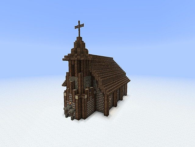 How To Build A Minecraft Medieval Church
