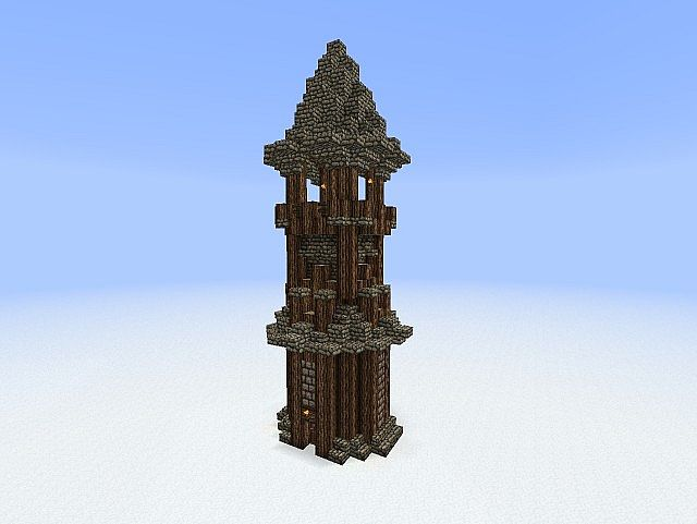 How To Build A Medieval Guard Tower In Minecraft