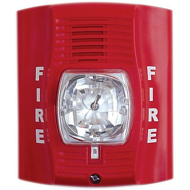 Fire Alarm System Sensor Spectralert Advanced P2r Hornstrobe White on sign fire alarm sound