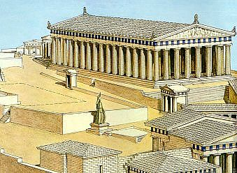 how to make a parthenon for school project