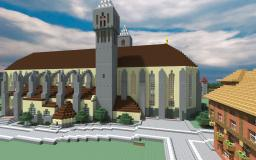 Fully detailed cathedral - St Jakob inspired Minecraft Map & Project