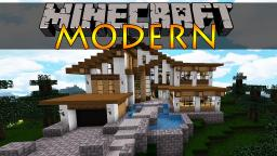 Bee Builds Huge Modern House. Minecraft Map & Project