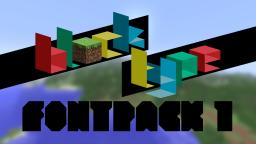 Block Type, Font Pack 1! A weekly font pack installment! Minecraft