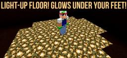 Light-up Floor! Glows under your feet! [13w37a] Minecraft Map & Project
