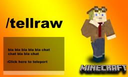 Chat Link Teleport System /tellraw command Minecraft 1.7 [13w37a] Minecraft