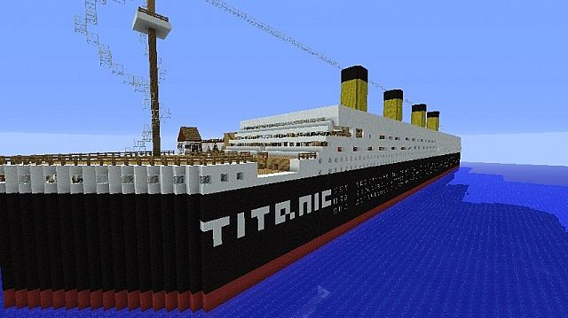 Titanic With Rooms! Minecraft Project