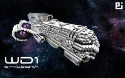 WD1 Spaceship + Fighters Minecraft Map & Project