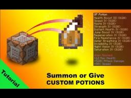 Tutorial: Custom potions using /give and /summon commands in minecraft 1.7 [13w37b] Minecraft Blog Post