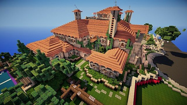 Huge Mansion on World of Keralis Minecraft Project | 640 x 360 jpeg 69kB