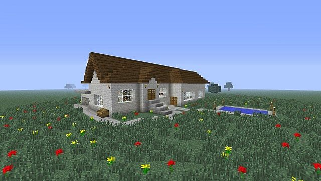 modern minecraft house basement rooms pool etc minecraft project