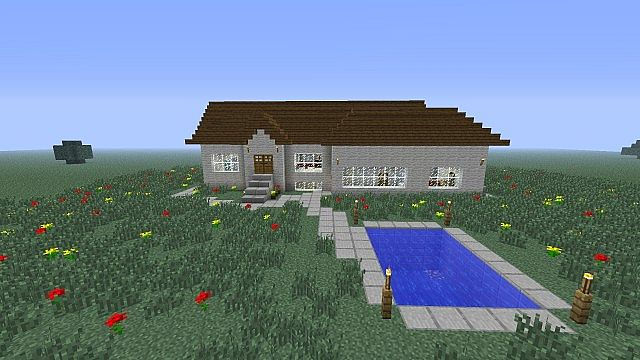modern minecraft house basement rooms pool etc