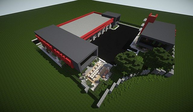 Modern Fire Station Minecraft Project