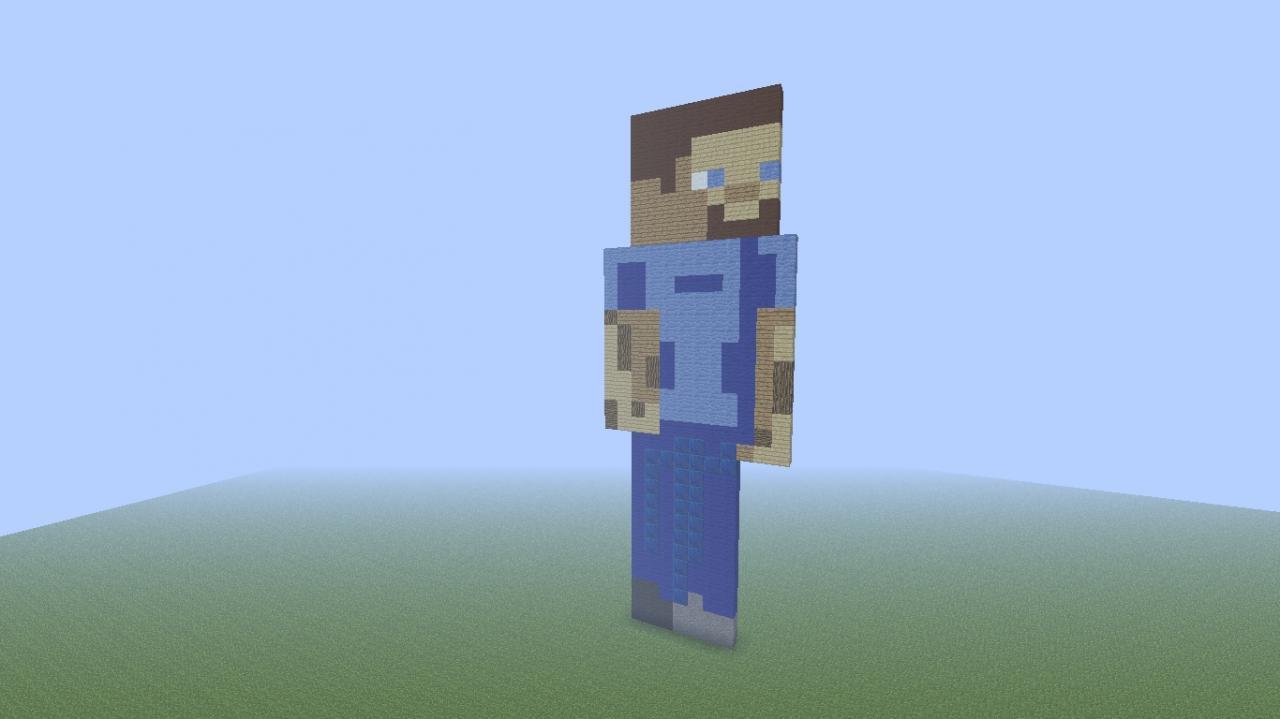 2d steve pixel art minecraft project