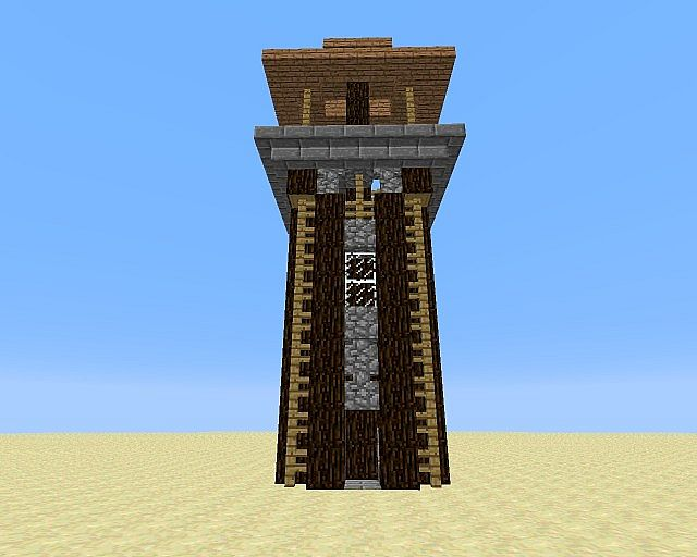 Wooden Tower Minecraft Project