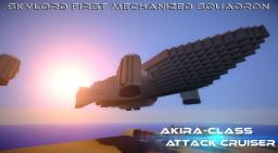 Akira-Class Attack Ship Minecraft Map & Project