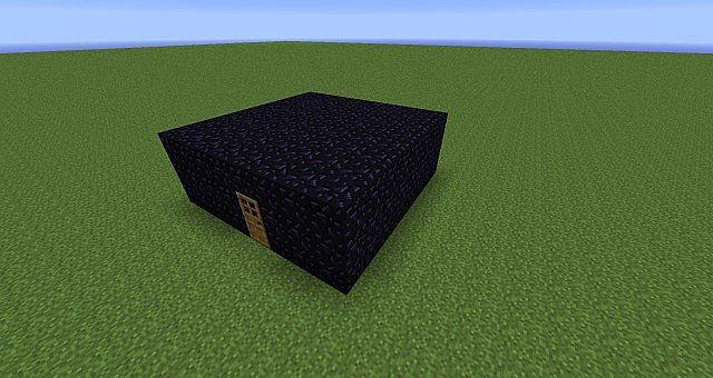 Obsidian house trapMinecraft Obsidian House