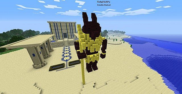 Anubis Statue Minecraft Project