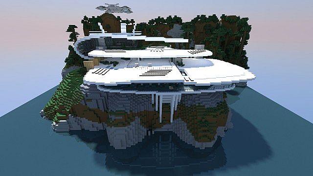 White Sea Mansion  Inspired By Stark Mansion  Minecraft Map