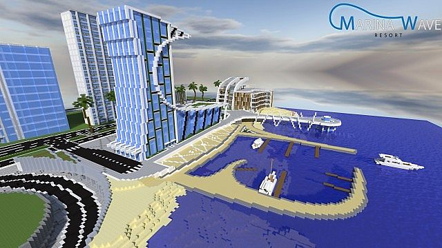 Marina Wave Resort Minecraft Project