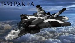 T-50 Russian Stealth Fighter Minecraft Map & Project