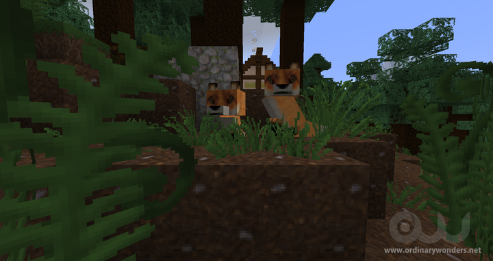 """What does the fox say? """"Download the OrdinaryWonders texture pack today!"""""""