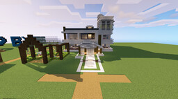 Modern House with redstone lighting and a few other mechanics. Minecraft Map & Project