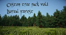 Custom tree pack Vol.1  -Boreal Forest (Taiga) Minecraft