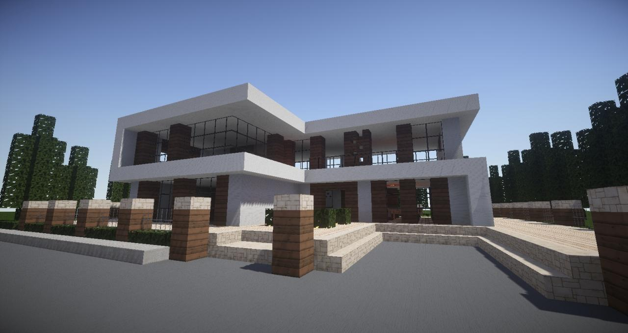 Modern house minecraft project for Projects house